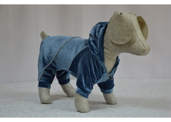 Комбінезон Оксамит з капюшоном для собак