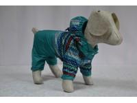 Дощовик-комбінезон Орнамент з капюшоном для собак