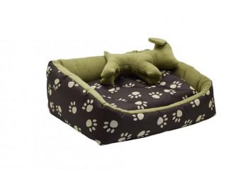 Лежак Глорія для котів і собак коричневий