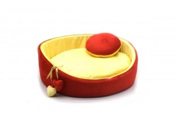 Лежак Плюш круглий для котів і собак
