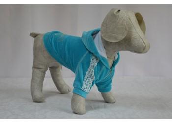 Толстовка Велюр з капюшоном для собак